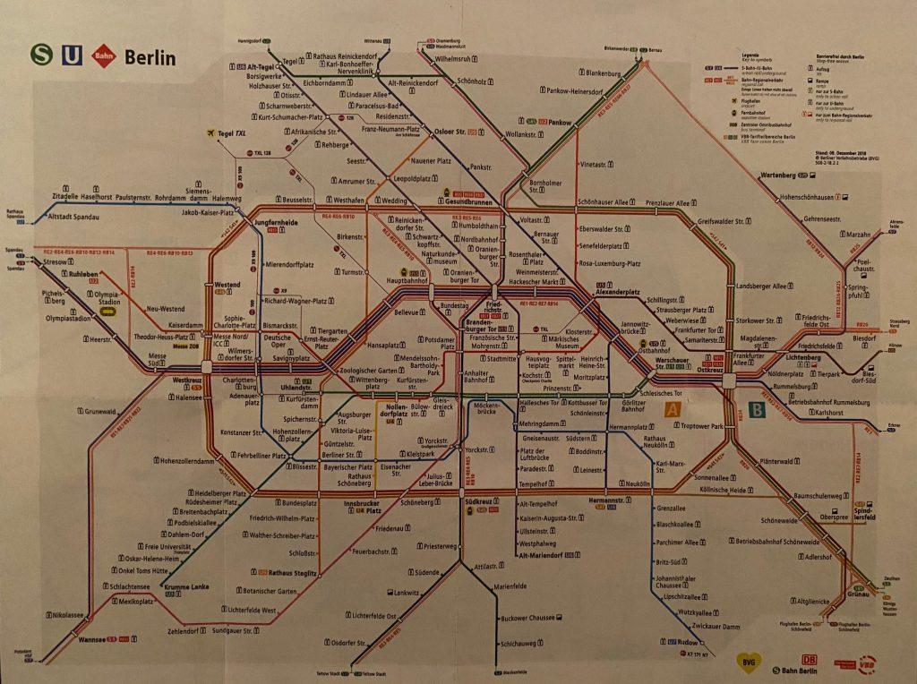 Spostamenti a Berlino: mappa metropolitana