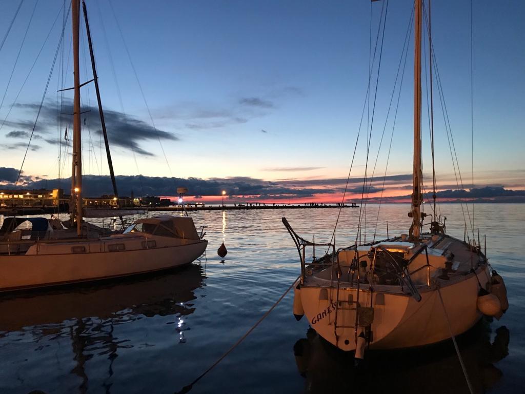 Cosa vedere a Trieste: molo audace in lontananza